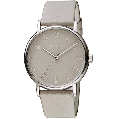 ISSEY MIYAKE三宅一生f系列雙時刻腕錶(NYAJ005Y)-灰
