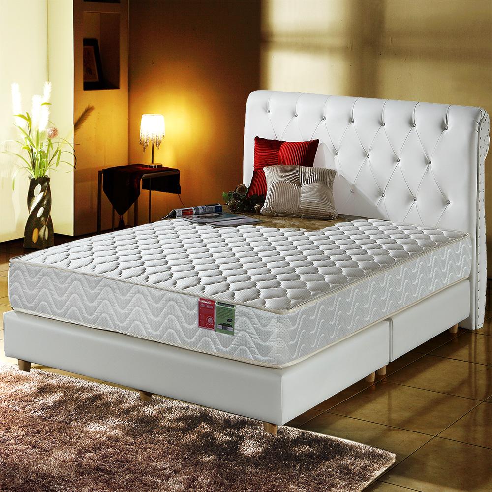 A家-小孩/長輩/體重重專用-抗菌防潑水-護邊蜂巢獨立筒床墊-雙人5尺