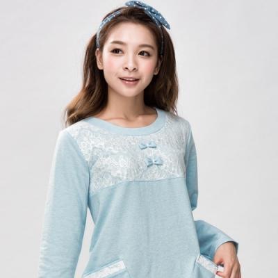 華歌爾-Pretty Amy自在 M-L 長袖裙裝(藍)家居服