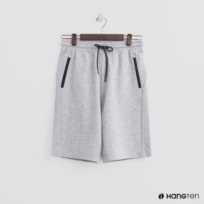 Hang Ten - 男裝 - 純色拉鍊口袋運動五分褲-灰