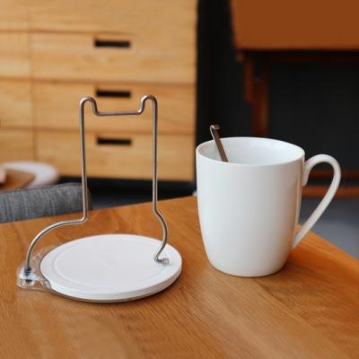 OSHI歐士 轉杯架 (貓) 附贈馬克杯/吸水杯墊/不鏽鋼杯架/攪拌棒