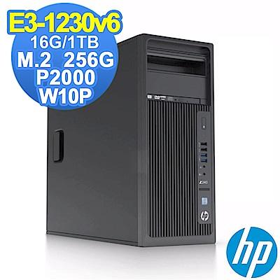 HP Z240 TWR E3-1230v6/16G/1TB+256G/P2000/W10P