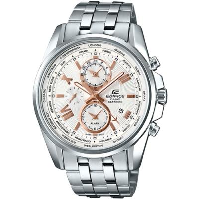 CASIO卡西歐日本製三針三眼計時錶(EFB-301JD-7A9)