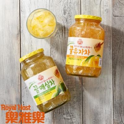 樂雅樂RoyalHost 韓國不倒翁蜂蜜柚子/青梅茶1kg(任選2入組)