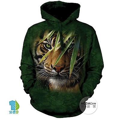 摩達客 美國The Mountain 林中之虎 中性套頭長袖連帽T恤