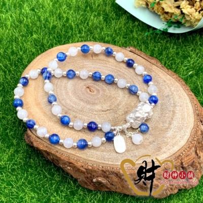 財神小舖 藍晶月光 寶寶貔貅手鍊 925純銀 (含開光) BOBO-1202