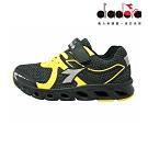 Diadora 兒童競速慢跑鞋 大童 加寬楦 黑 DA9AKR7870