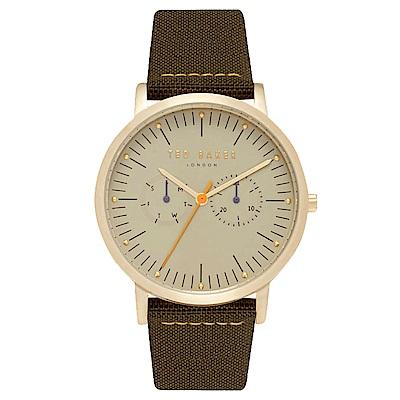 Ted Baker 英倫紳士風尚手錶-金X深綠/40mm