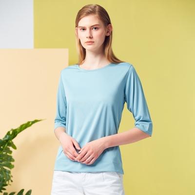 【ST.MALO】網路限定零著感環保紗素色防曬吸排MIT女上衣(6色)