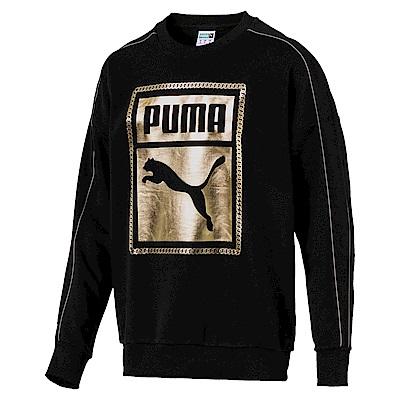 PUMA-男性流行系列鎖鏈圓領衫-黑色-亞規