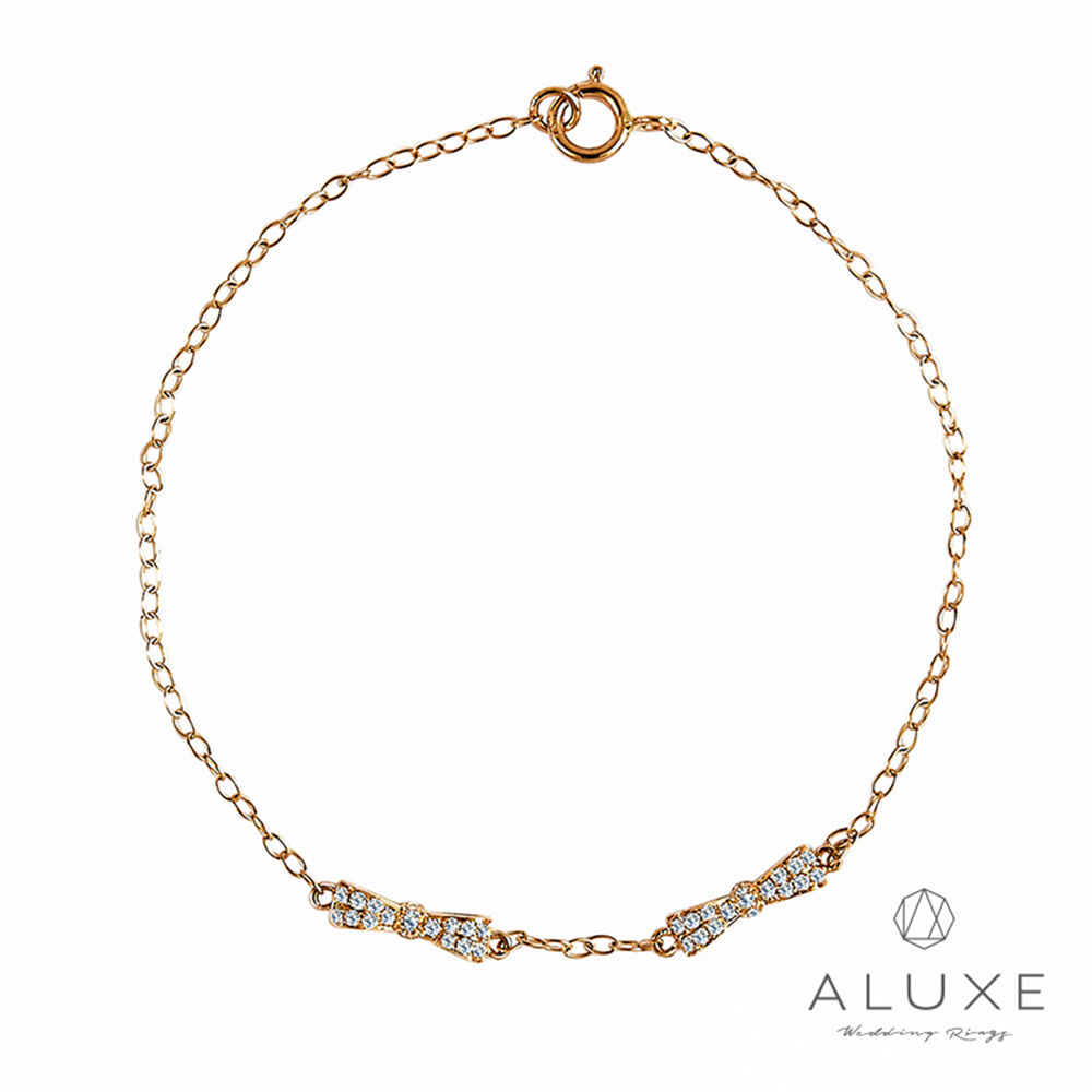 A-LUXE 亞立詩 The Gift 系列 18K玫瑰金鑽石手鍊