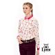 【Lynx Golf】女款絲光棉滿版蝴蝶長袖POLO衫-粉色 product thumbnail 2