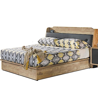 品家居  辛西亞3.5尺耐磨皮革單人收納床台組合(不含床墊)-106x213x95cm免組