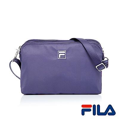 FILA優雅風采隨身側斜背包(優雅紫)