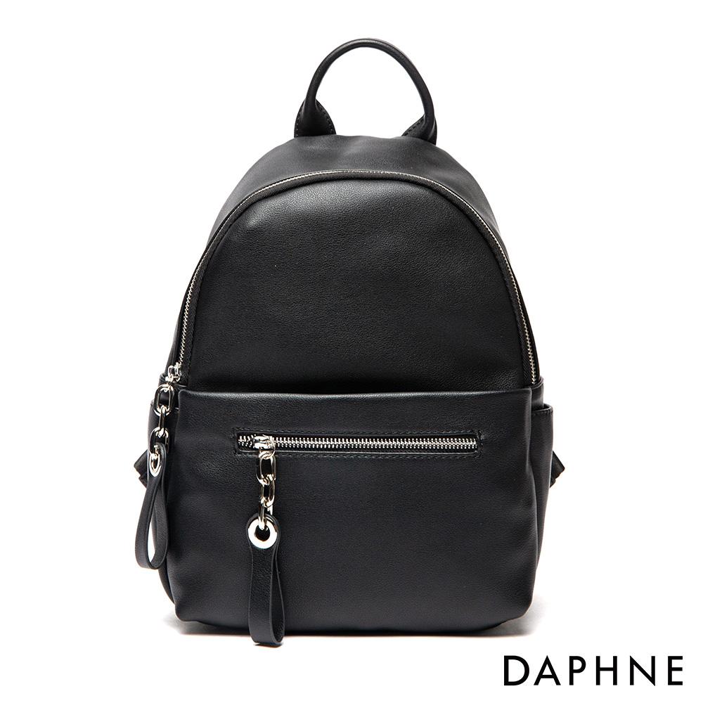 達芙妮DAPHNE-潮流休閒後背包-黑