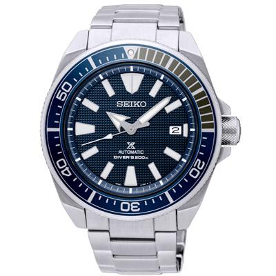 SEIKO精工PROSPEX 潛水機械手錶SRPB49J1-藍X銀/43.8mm