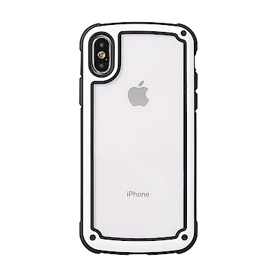 【TOYSELECT】iPhone Xs Max 強化MODE防撞純色手機殼:白玉色