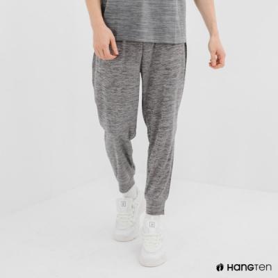 Hang Ten-男裝-恆溫多功能-REGULAR FIT標準鳥眼吸排紗涼感抗菌除臭運動長褲-灰色