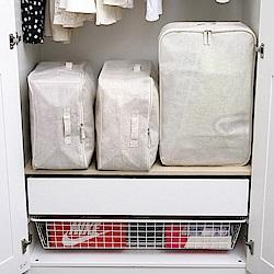 創意達人xUdlife棉麻覆蓋全開式收納箱4入組