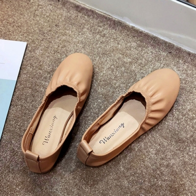 KEITH-WILL時尚鞋館 時尚穿搭機能日系清甜娃娃鞋-杏