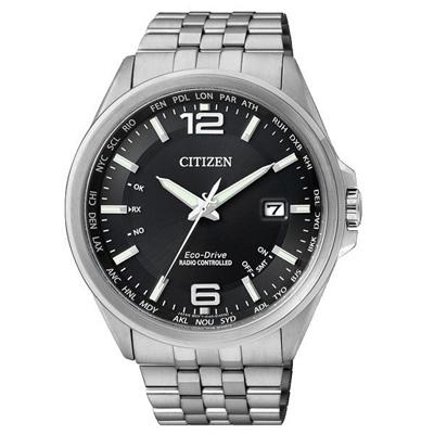 CITIZEN Eco-Drive 世紀經典紳士萬年曆腕錶(CB0011-77E)-黑