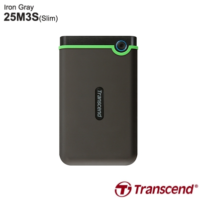 創見 StoreJet 25M3 2.5吋 4TB USB3.1 Gen1 行動硬碟(灰)