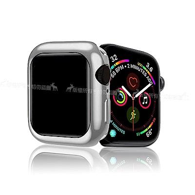XUNDD 訊迪 Apple Watch 4 (44mm) 全包金屬色防摔軟殼 (星鑽銀)