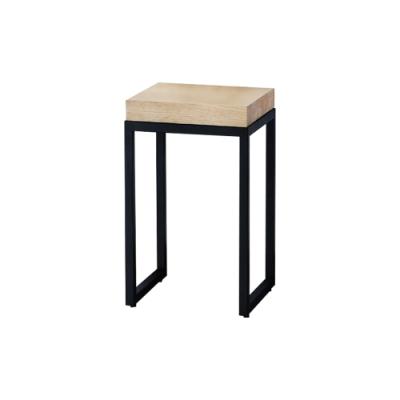 柏蒂家居-蓋瑞工業風方型花架/玄關桌/置物收納架-低-35x35x53cm