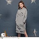 太空KITTY厚刷毛連帽衛衣洋裝-OB大尺碼