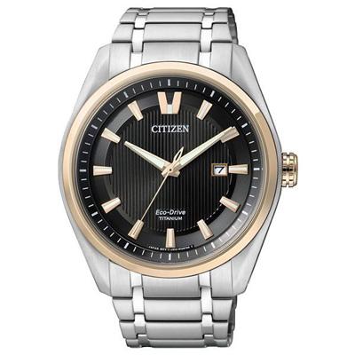 CITIZEN 零度空間鈦金屬日期腕錶-黑(AW1245-53E)-42mm