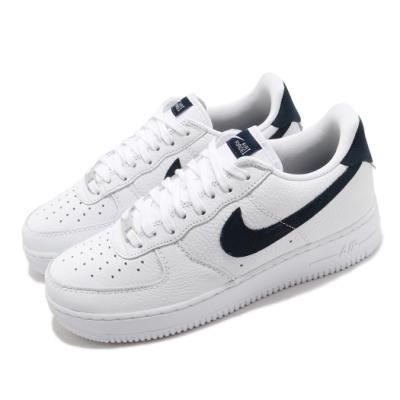 Nike 休閒鞋 Air Force 1 07 運動 男鞋 經典款 AF1 皮革 質感 簡約 穿搭 白 黑 CT2317100