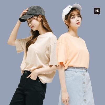 [時時樂]H:CONNECT 韓國品牌 女裝- 亮色系棉質T-shirt-兩色