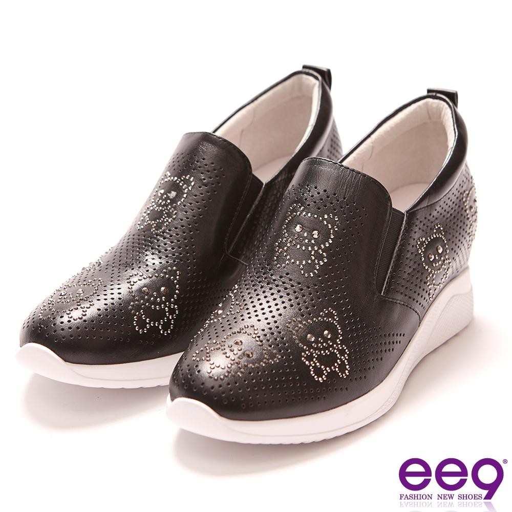 ee9 璀璨迷人鑲嵌亮鑽厚底內增高鞋 黑色-583491  10