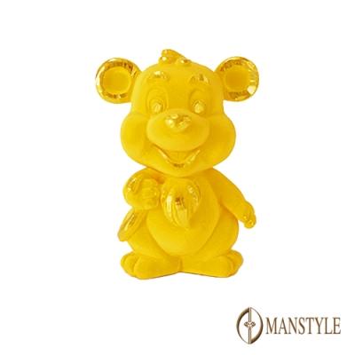 MANSTYLE 俏皮生肖鼠 黃金擺飾-擺件 (約1錢)