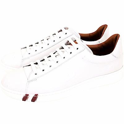 BALLY WIVIAN 白色小牛皮繫帶休閒鞋(女鞋)