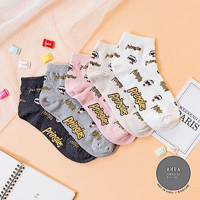 阿華有事嗎 韓國襪子 滿版品客短襪 韓妞必備卡通襪 正韓百搭純棉襪