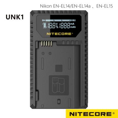 Nitecore UNK1 液晶顯示充電器 FOR EN-EL14+EN-EL15