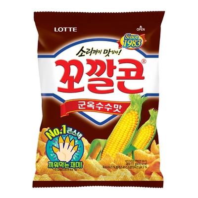 Lotte樂天 玉米脆角-烤玉米(72g)