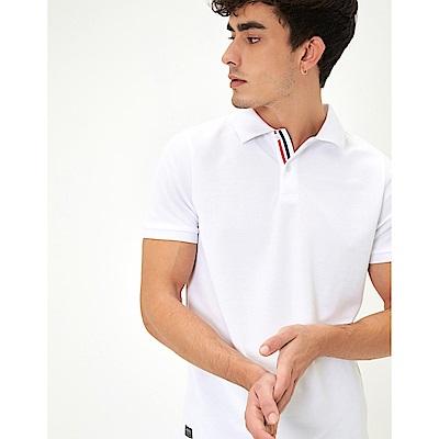 CACO-三色織帶POLO衫(兩色)-男【SAR082】