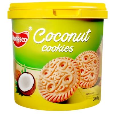 PT MONDE 桶裝椰子風味餅乾(360g)