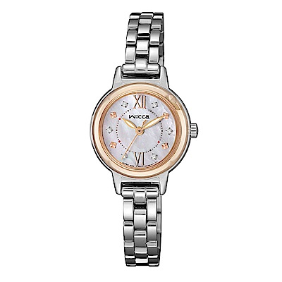 CITIZEN wicca公主系列優雅貝殼面太陽能腕錶/KP3-619-91