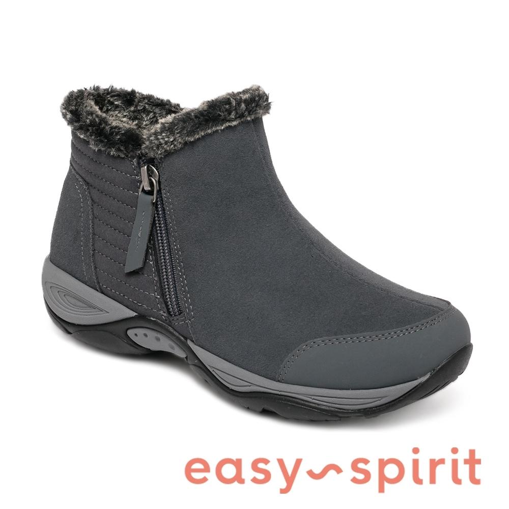 Easy Spirit-seGRACEE2 經典素面休閒側拉鍊平底短靴-灰色