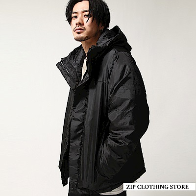 機能仿羽絨鋪棉夾克(5色) ZIP日本男裝