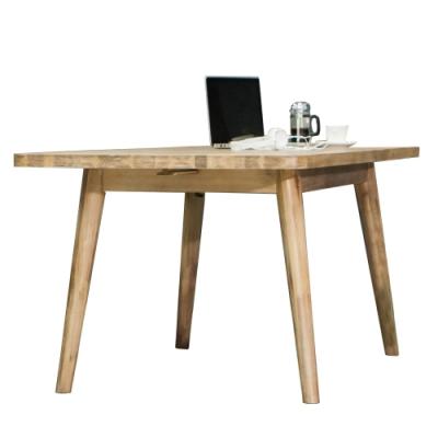 【AT HOME】北歐鄉村5尺原木本色實木餐桌/工作桌/洽談桌(絲帕)