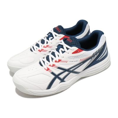 Asics 網球鞋 Court Slide 2 運動 男鞋 亞瑟士 耐用 穩定 膠底 基本款 入門 白 藍 1041A194102