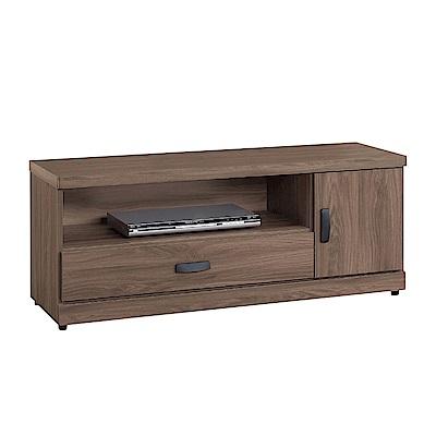 文創集 莉可時尚3.8尺木紋電視櫃/視聽櫃-115x40x48cm免組