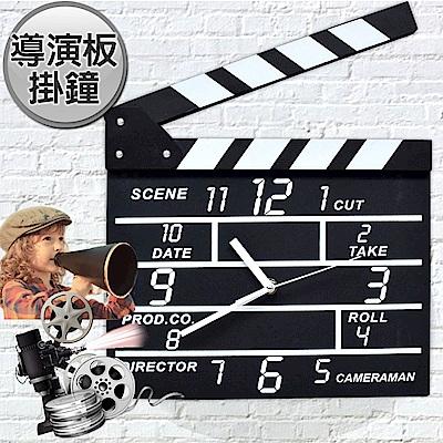 導演一生 導演板造型數字壁鐘