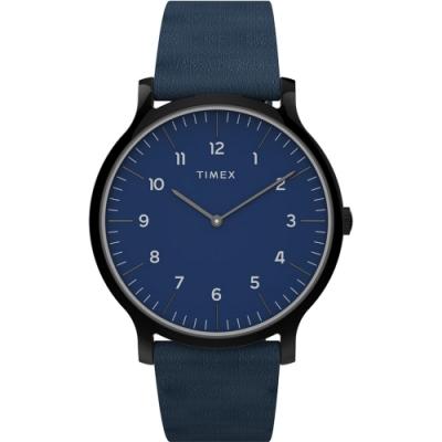 TIMEX 天美時 復刻系列 極簡復古手錶-藍/40mm