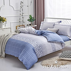 HOYACASA慢調單寧 單人四件式抗菌天絲兩用被床包組