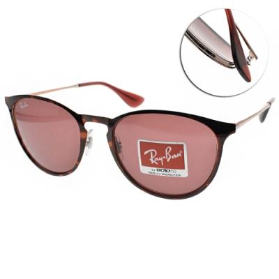 RAY BAN太陽眼鏡 前衛時尚款/琥珀紅 #RB3539 913375